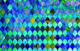 SXPR-9004-T Sapphire Stained Glass Transparent