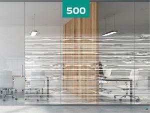 INT500 horizonal waves lines glass film